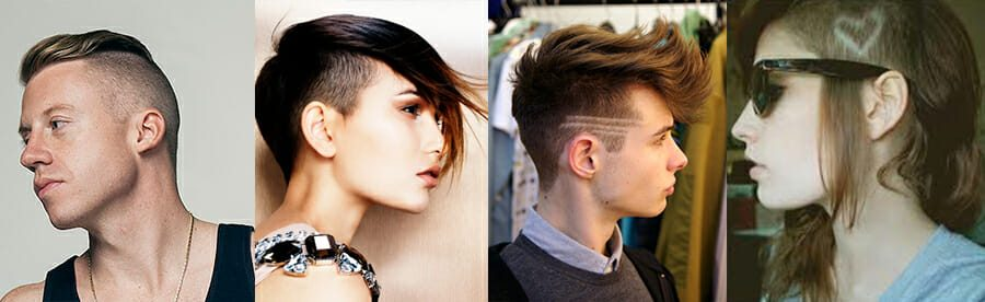 4 examples of different undercut
