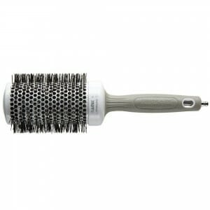 white hair brush