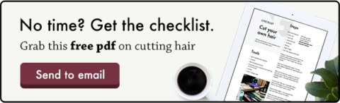 checklist cutting own hair