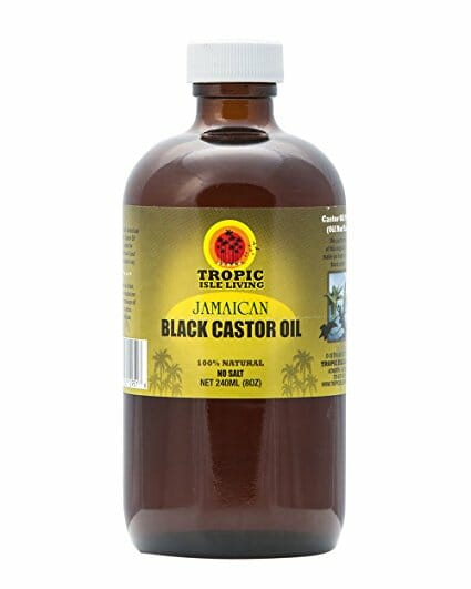 black castor oil bottle