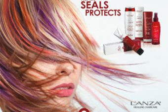 lanza promotional photo dyed hair