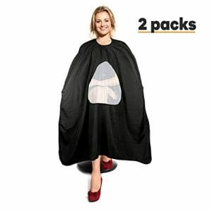 1-Celebrita Pack of 2 Waterproof Barber Cape for All
