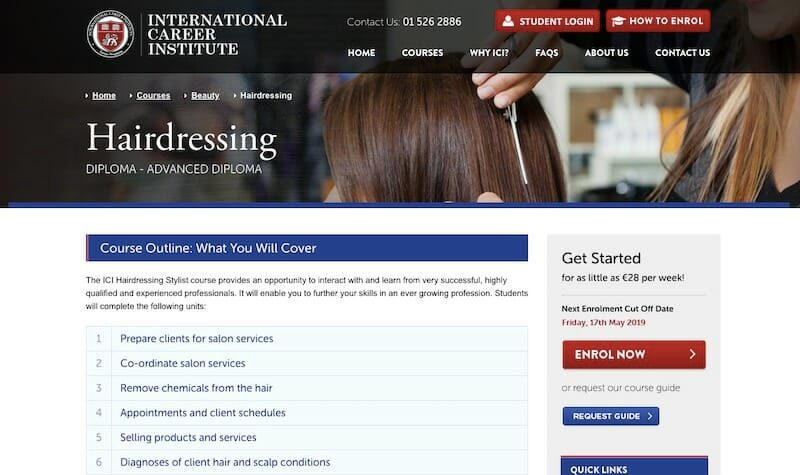 international institute hairdressing class