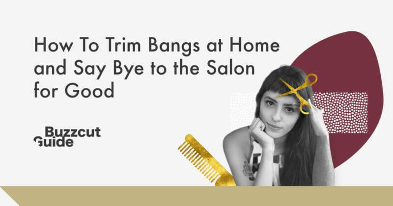 how to trim bangs