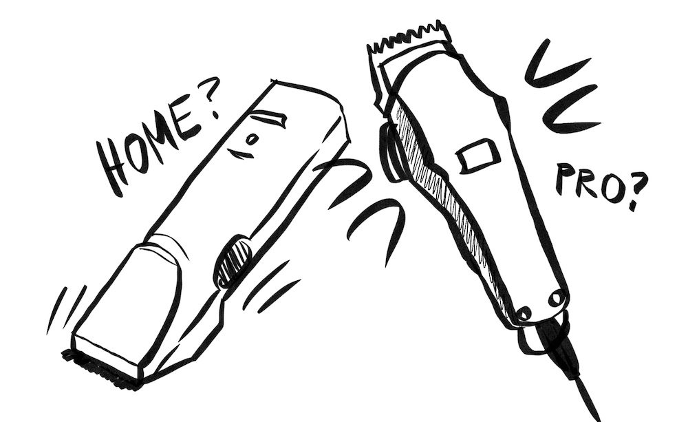 home vs professional hair clippers