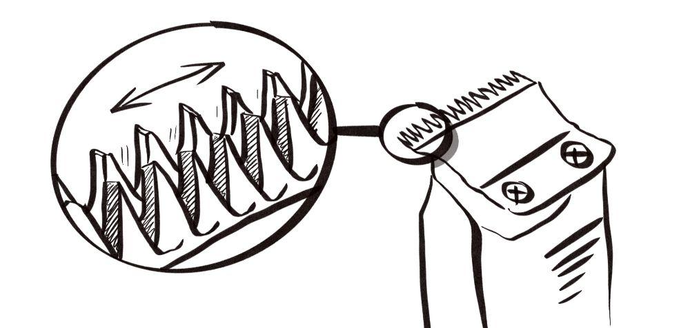 how do hair clippers work