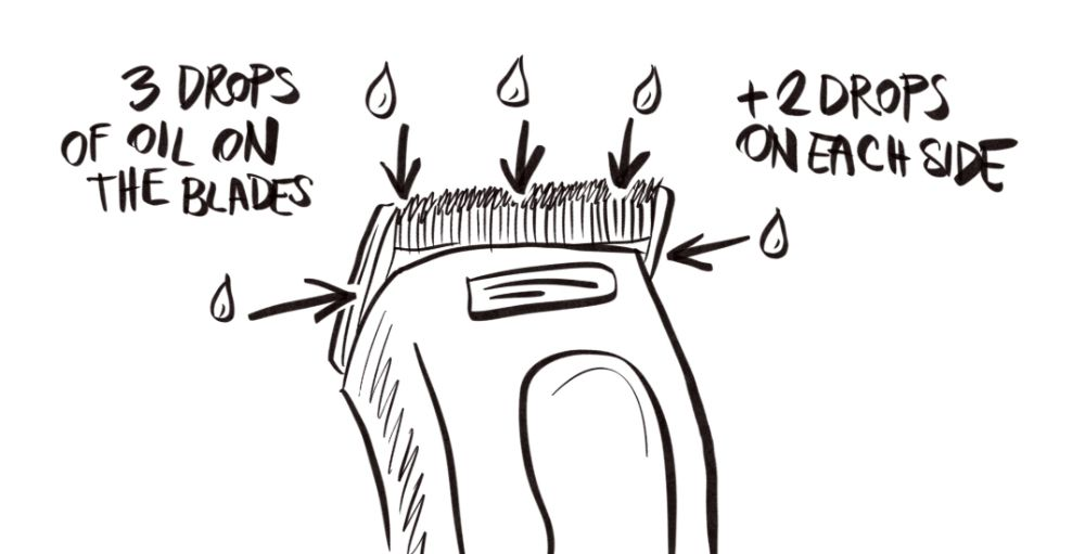 oiling hair clippers